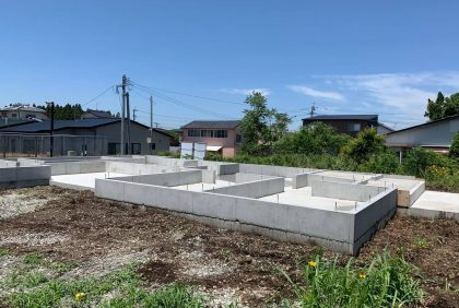 熊本県菊池市Y様邸、基礎工事へ入りました。