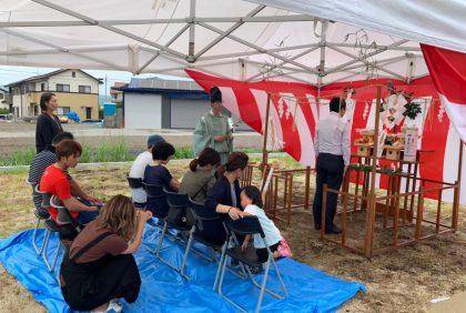 熊本県宇土市I様邸、地鎮祭を行いました。