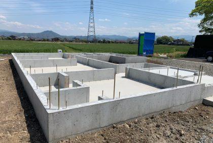 熊本県上益城郡S様邸、基礎工事が始まりました。