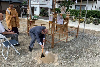 熊本市西区H様邸邸、地鎮祭の様子
