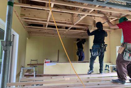 熊本県菊池市Y様邸、木工事始まりました。