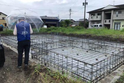 熊本県宇土市I様邸、基礎工事が始まりました。