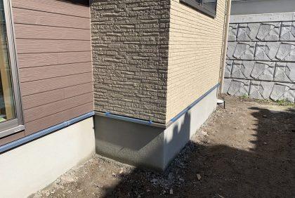 熊本県熊本市西区H様邸、仕上げ・外壁工事が始まりました。