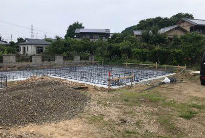 熊本県宇城市I様邸、基礎着工しました。