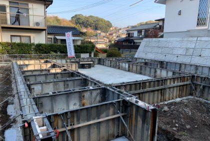 熊本県熊本市西区 H様邸、基礎工事始まりました。