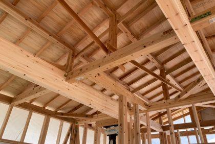 熊本県上益城郡O様邸、木工事始まりました。