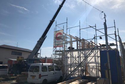 熊本県熊本市東区M様邸、上棟しました。
