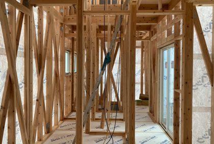 熊本県上益城郡S様邸、木工事始まりました。