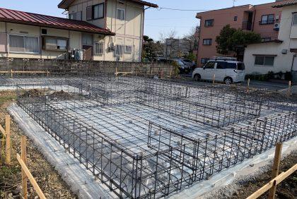熊本県熊本市中央区S様邸、基礎着工致しました。