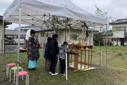 熊本県八代市K様邸、地鎮祭を行いました。