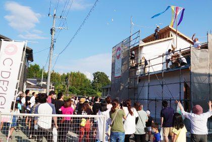 熊本県宇城市松橋町N様邸、上棟しました。