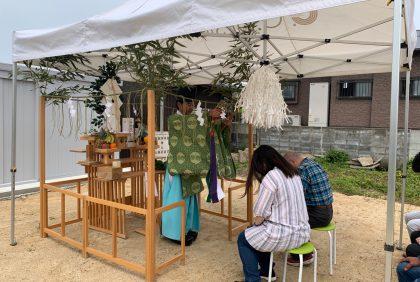 熊本県上益城郡御船町K様邸、地鎮祭を行いました。