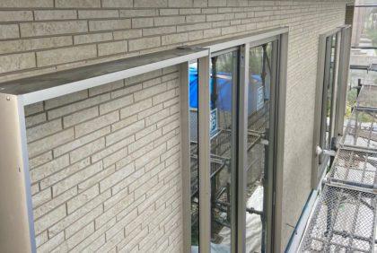 熊本県上益城郡御船町K様邸、外壁工事始まりました。