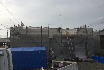 熊本県上益城郡御船町K様邸、屋根工事始まりました。