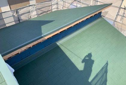 熊本県宇城市松橋町N様邸、屋根工事始まりました。