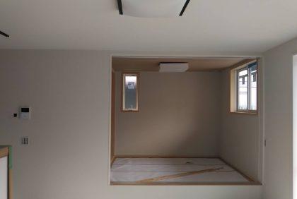 熊本県熊本市中央区S様邸、電気開口、照明器具取付を行いました。