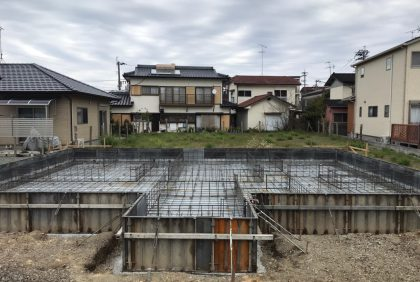 熊本県八代市K様邸、基礎工事始まりました。
