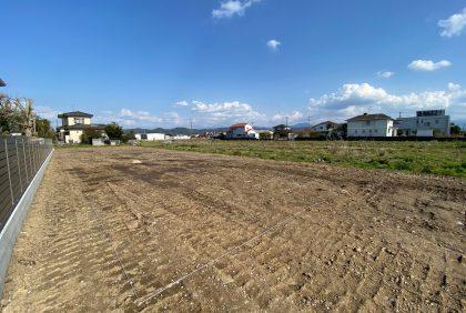 熊本県宇城市松橋町S様邸、地縄張りを行いました。
