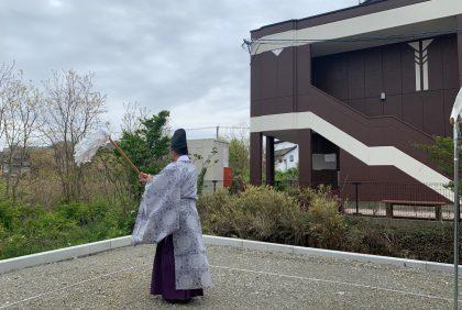 熊本県宇土市S様邸、地鎮祭を執り行いました。