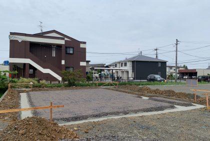 熊本県宇土市S様邸、基礎工事①始まりました。