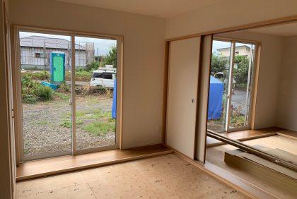 熊本県上益城郡御船町K様邸、仕上げ工事が始まりました。