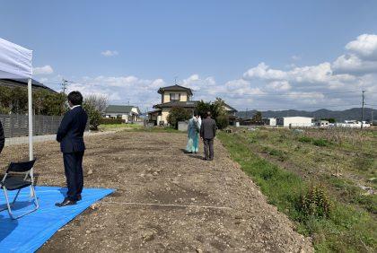 熊本県宇城市松橋町S様邸、地鎮祭を執り行いました。