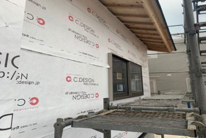 熊本県八代市K様邸、屋根・外壁工事始まりました。