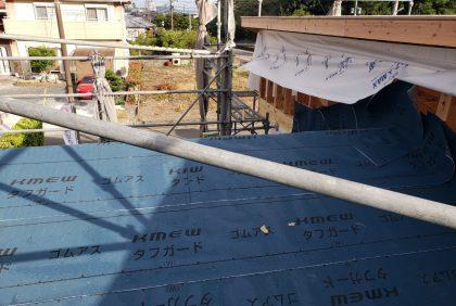 熊本県天草市N様邸、屋根工事始まりました。
