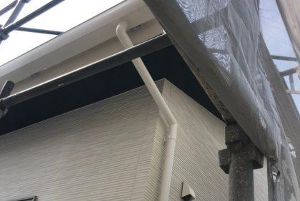 熊本県八代市K様邸、樋工事の様子です。