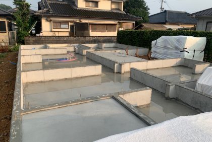 熊本県天草市N様邸、基礎完了しました。