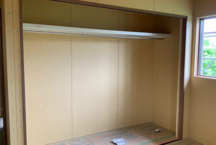 熊本県宇土市S様邸、ボード貼り工事始まりました。