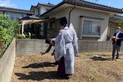熊本県宇土市Y様邸、地鎮祭を行いました。