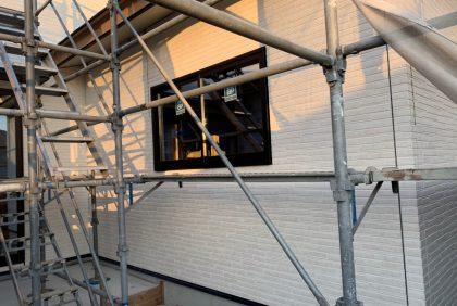 熊本県天草市N様邸、防水シート・外壁工事始まりました。