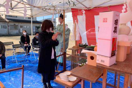 熊本県人吉市H様邸、地鎮祭を行いました。
