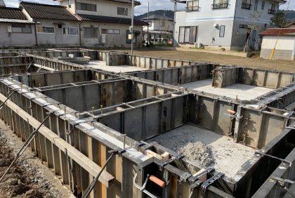 熊本県人吉市H様邸、基礎工事始まりました。