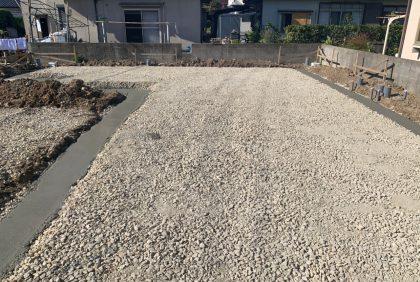 熊本県宇土市Y様邸、基礎工事①始まりました。