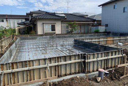 熊本県宇土市Y様邸、基礎工事②始まりました。