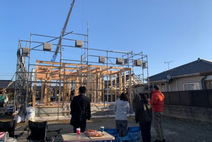 熊本県人吉市H様邸、上棟しました。