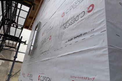 熊本県人吉市H様邸、防水検査の様子です。