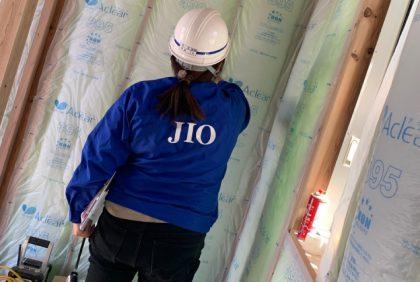 熊本県人吉市H様邸、断熱材工事が始まりました。