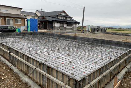 熊本県宇土市M様邸、基礎工事が始まりました。
