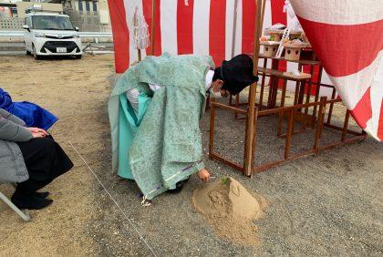 熊本県上益城郡U様邸、地鎮祭が執り行われました。