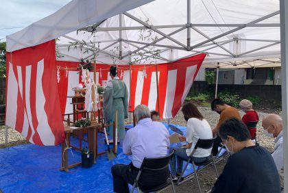 熊本県宇城市K様邸、地鎮祭が執り行われました。